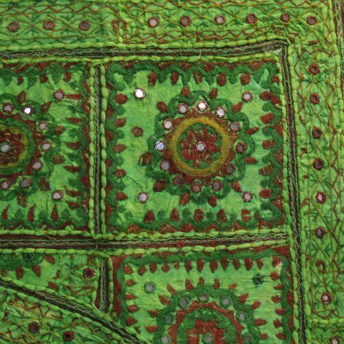 Türbehang Toran Thorang  Patchwork 100 cm Rundbogen Baumwolle Wandbehang Grün rb