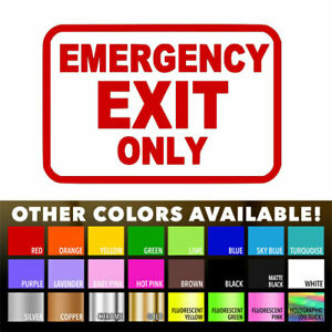 Emergency-Exit-Only-Sign-Business-Store-Wall-Door-Window-Die-Cut-Decal-Sticker