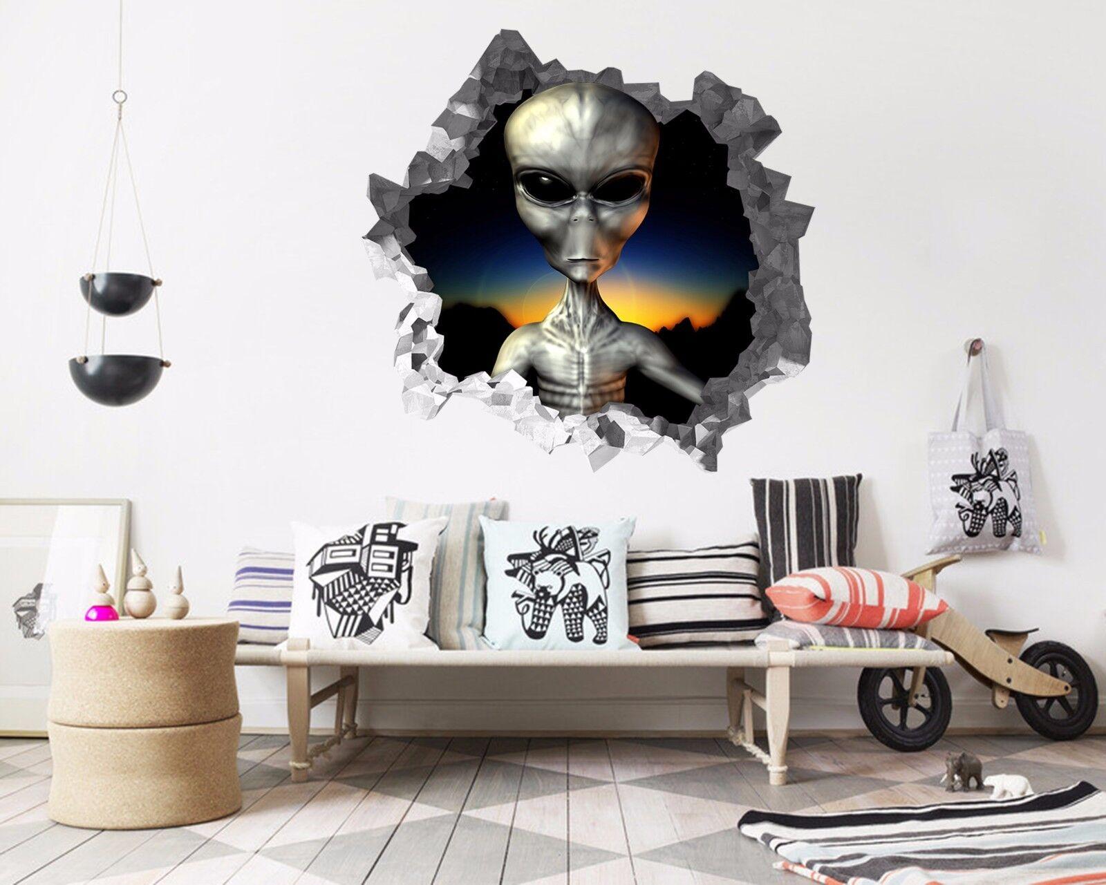 3D Alien 546 Mauer Murals Aufklebe Decal Durchbruch AJ WALLPAPER DE Lemon