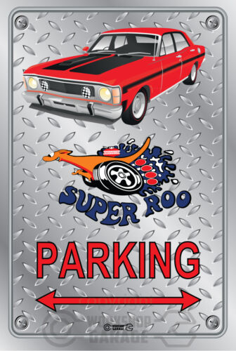 Ford XW GT 351 Super Roo Parking Sign Metal candy apple red