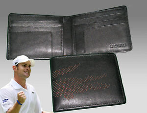 dce92b29e209 Image is loading New-Authentic-LACOSTE-Small-Billfold-LEATHER-WALLET -Punched-