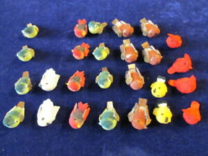Millinery-1-034-Bird-Trim-Collection-Mushroom-26-pc-Lot-Many-Colors-H2991
