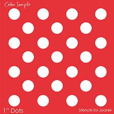 "Polka Dots STENCIL 1"" Circle Shapes Template Craft Pattern Art Decor U Paint"