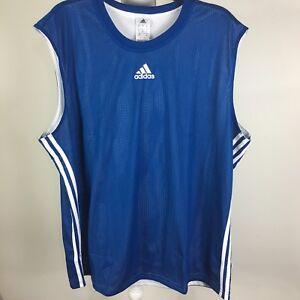 Adidas-Men-s-Shirt-Size-3XL-Doble-Up-Tank-B-amp-T-EQTblue-white-Sleeveless-NWT