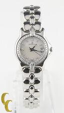 Bertolucci Stainless Steel Women's Quartz Watch MOP Dial w/ Diamonds 083 41A