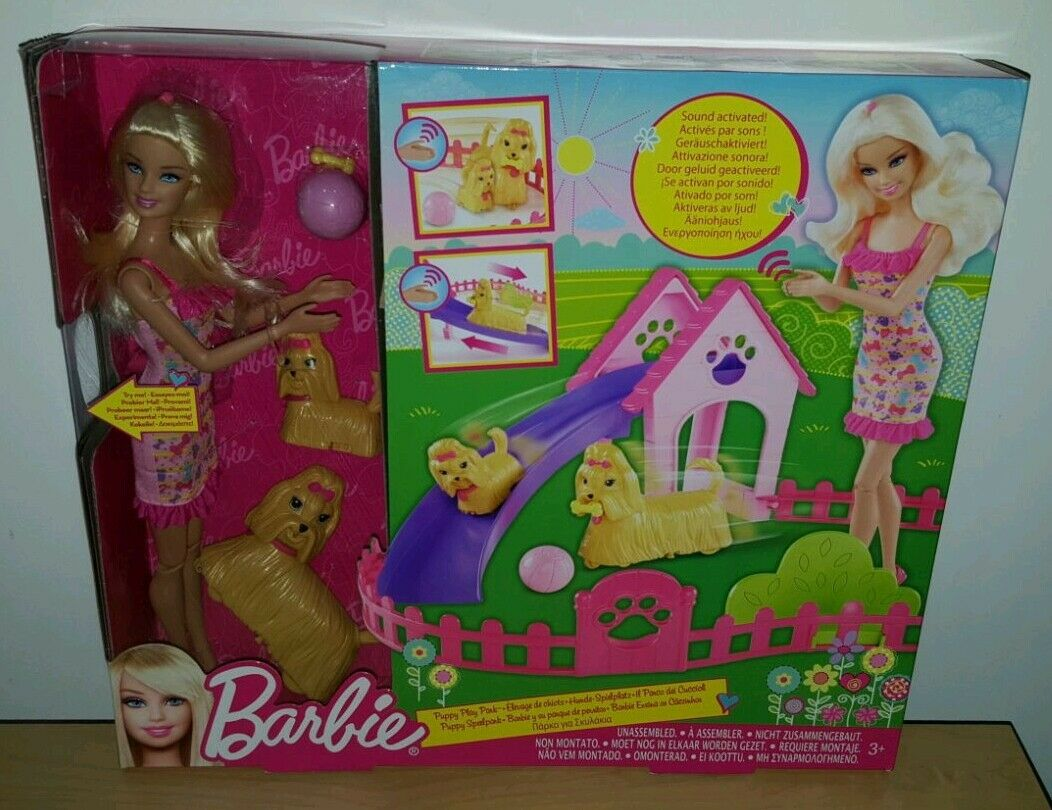 BARBIE PUPPY PLAY PARK DOG TRAINING DOLL BRAND NEW XMAS GIFT PRESENT BIRTHDAY