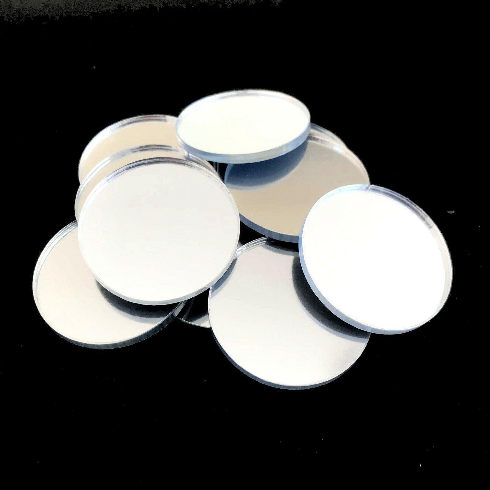 s l1600 - Círculo Manualidades y Decoración Plata Espejos (3mm Acrílico Varios Tamaños)