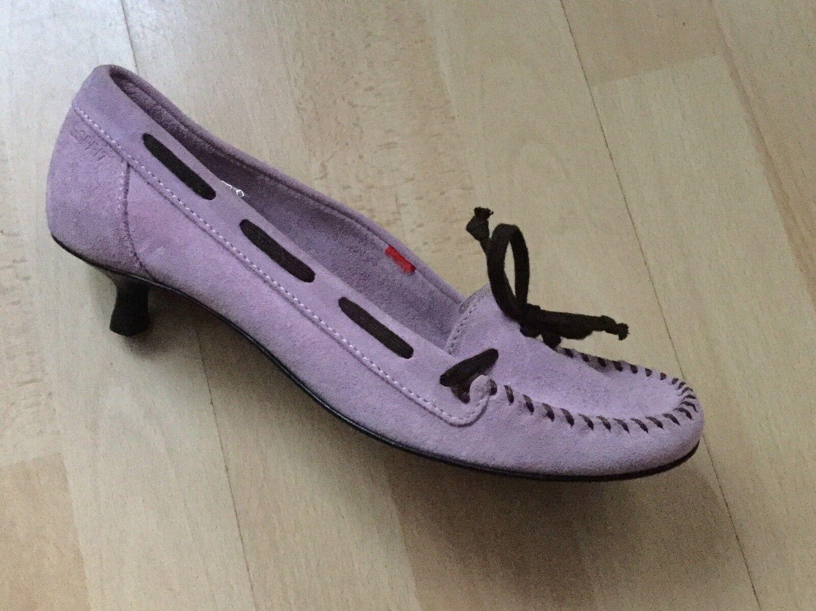 Zapatos del diseñador Talla UK 5 5 5 euro 38 Gamuza púrpura Hecho En Italia Nuevo  tienda en linea