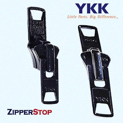 Zipper Slider Boat Canvas #10 YKK Vislon Single Pull Tab 2 Piece Black