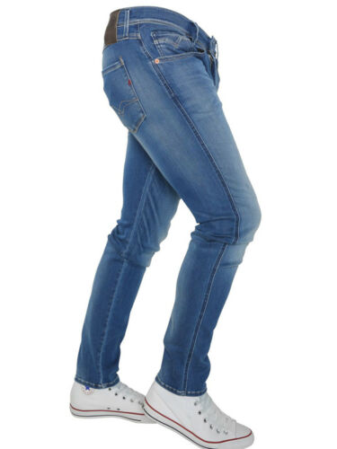 Replay Mens M914-661609009 Anbass Hyperflex Jeans in Light Used Blue