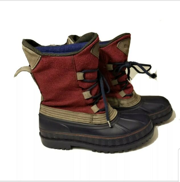 LaCrosse Waterproof Thinsulate Boots SIZE 1 M Youth Navy Maroon Removeable Liner