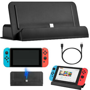 For-Nintendo-Switch-Charger-Charging-Dock-Station-Stand-w-Type-C-Charging-Cable