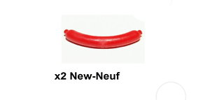 LEGO 2 X Accessoire Nourriture Food Minifig Hot Dog / Sausage Rouge Red (33078)