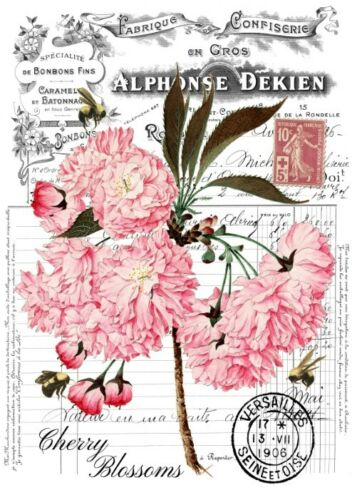 Decoupage-Serviettentechnik-Softpapier-Vintage-Blüte-Kirschblüte-12223