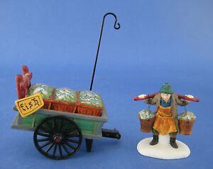 Dept 56 Dickens Village NIB Chelsea Market Fish Monger /& Cart