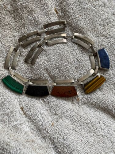 1980s modernistbrutalist costume jewellery pendant On large jumpring A stunning piece