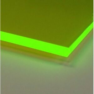 Green Fluorescent Acrylic Plexiglass sheet 1/8\