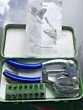 1 Ton Aviation Power Punch Kit Sheet Metal Hole Punching 7 Sizes Die DIY Repair