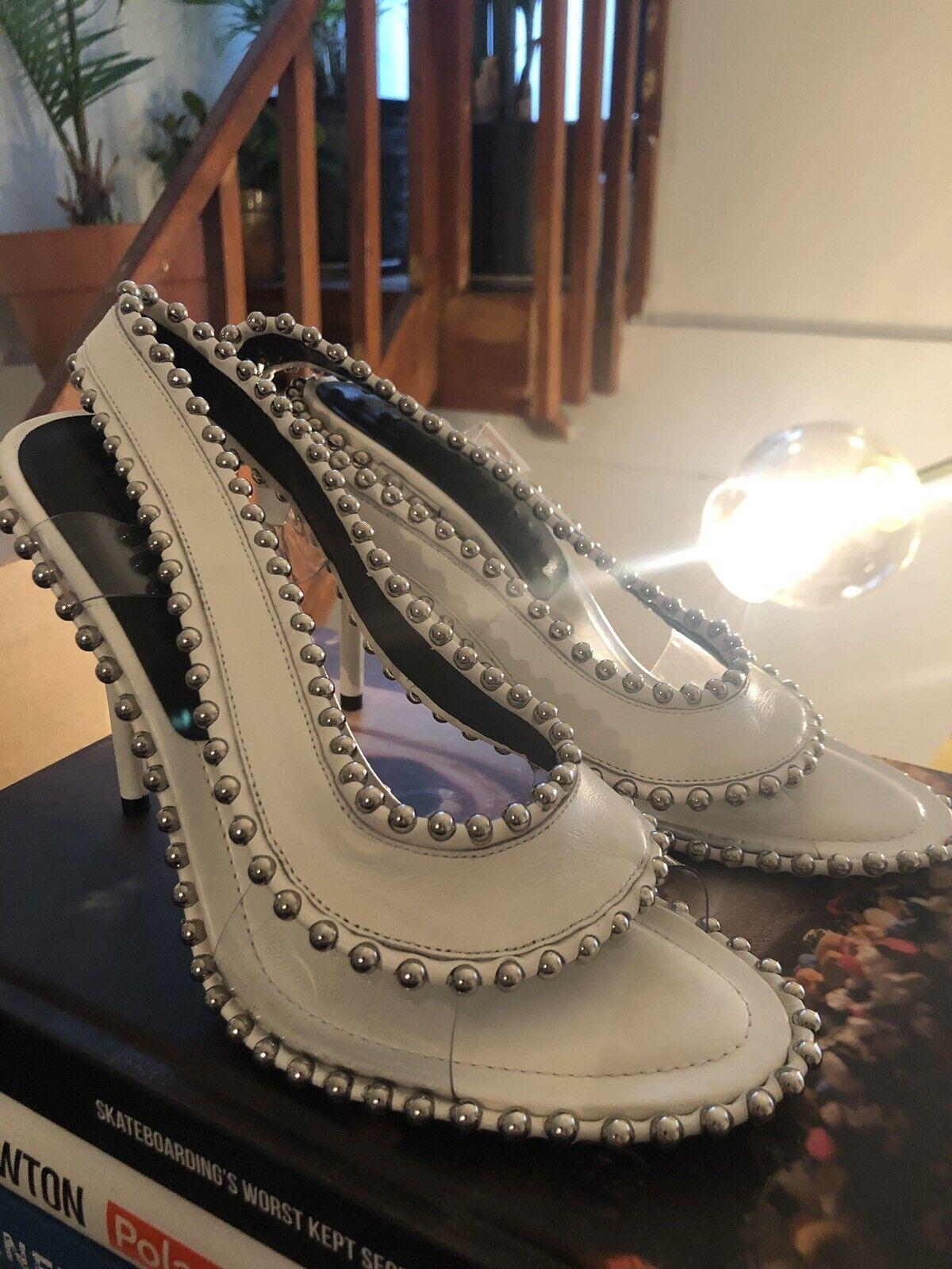 Alexander  Wang bianca Studded Stiletto Sandals Dimensione 39  migliori prezzi e stili più freschi