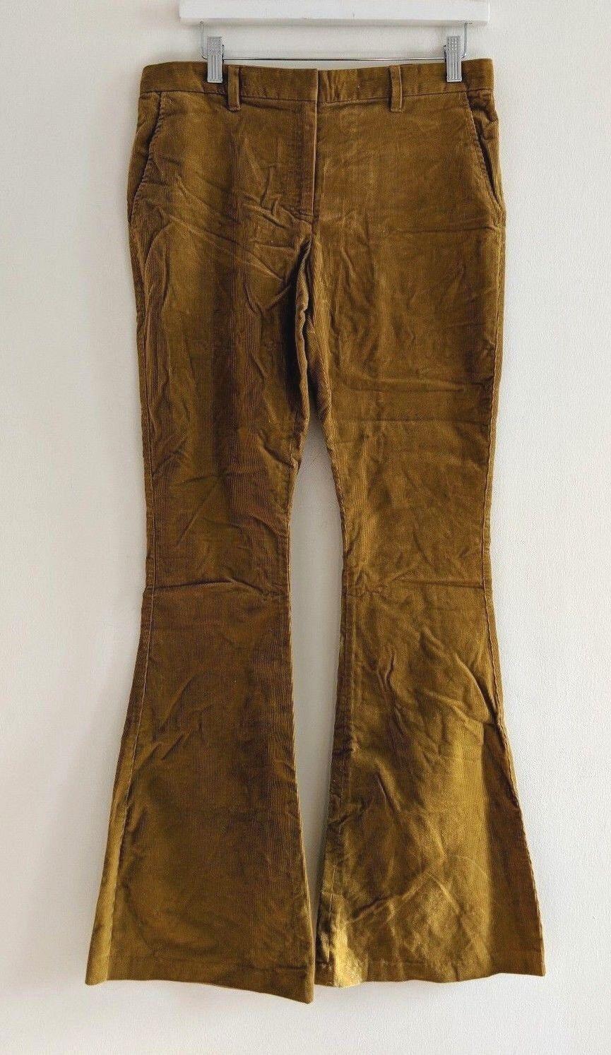 The Row Mustard Yellow Flare Corduroy Pants Sz 4 NWT  610