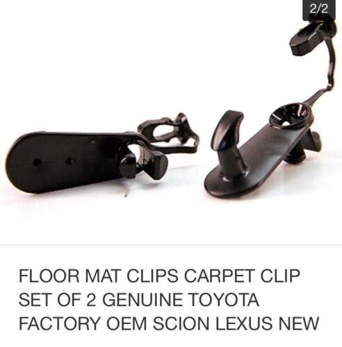 FLOOR MAT CLIPS CARPET SET OF 2 GENUINE TOYOTA SCION LEXUS Replacement Parts New