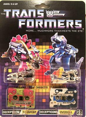 New Transformer G1 decepticons cassette ratbat plus frenzy mint Gift in stock