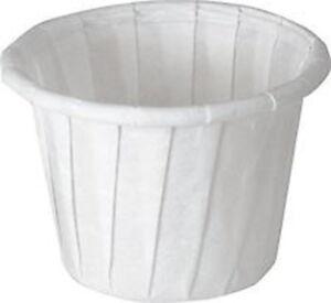 1 oz Disposable Paper Portion Cups Souffle 5000/cs