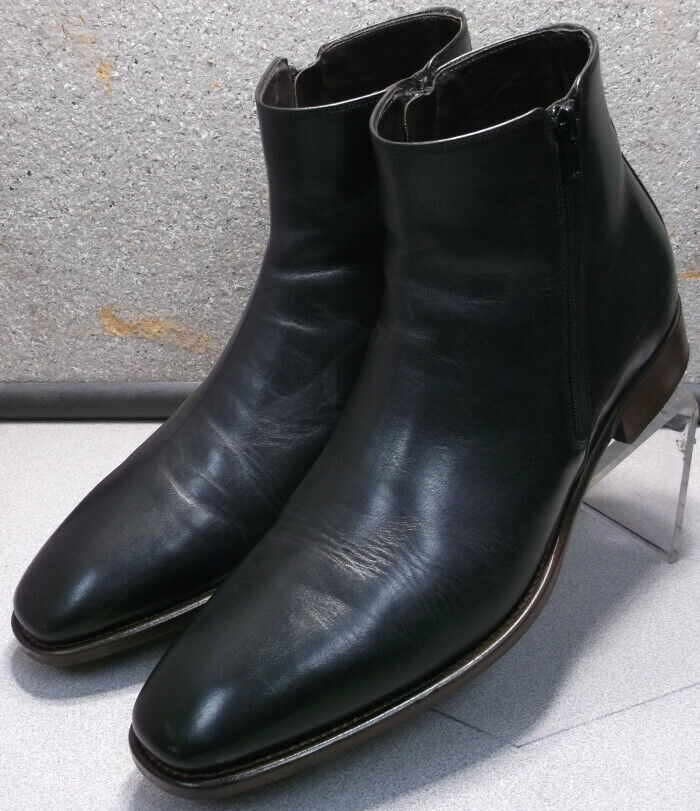 241835 pfibt Homme 60 démarrage Taille 13 M noir en cuir MADE IN ITALY Johnston Murphy