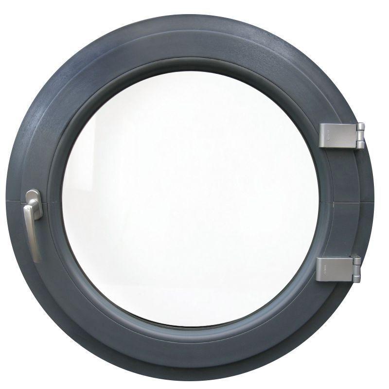 Rundfenster Dreh / Farbe innen und außen außen außen / Maße 55, 60, 65, 70, 80, 90, 100cm 13b158