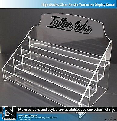 TATTOO INK ACRYLIC DISPLAY STAND HOLDS APPROX 40 BOTTLES HIGH QUALITY