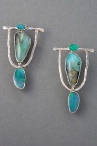 Ladies-925Silver-Earrings-Women-Turquoise-Gemstone-Dangle-Drop-Hook-Jewelry-Boho