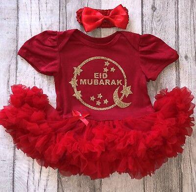 Obbediente Baby Girl's Gold Eid Mubarak Tutu Romper Vestito Neonato Regalo Famiglia Festeggiare- Vendita Calda 50-70% Di Sconto