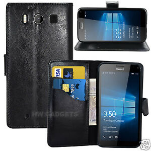 on sale 332ab 7e455 Details about Leather Wallet Flip Case Cover for Microsoft Lumia 950 - FULL  BODY PROTECTION