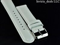 Invicta Lupah Genuine Leather 24mm White Replacement Strap Authentic