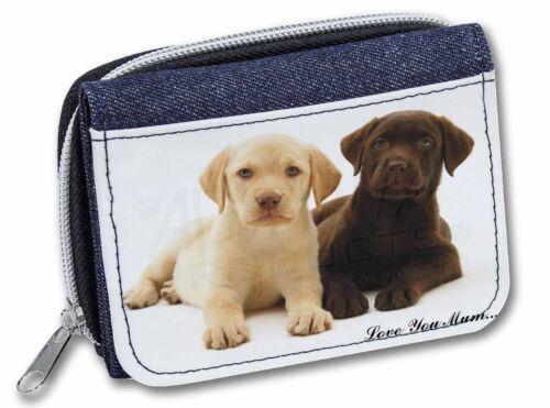 AD-L89lymJW Labrador Puppy Dogs /'Love You Mum/' Girls//Ladies Denim Purse Wallet