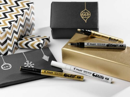Medium 4.5mm Pilot Super Color Marker Pen Metallic Paint Permanent Ink Markers