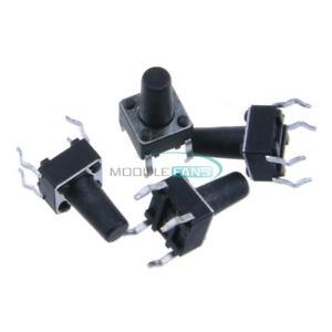 50Pcs-6X6X10mm-Tactile-Push-Button-Switch-Tact-Switch-4-pin-DIP-4-MF