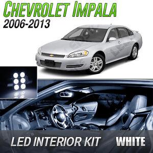 2006 2013 chevrolet impala white led lights interior kit ebay for Chevrolet impala 2013 interior