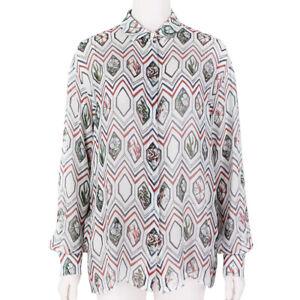 Giambattista-Valli-Semi-Sheer-Silk-Chiffon-Blouse-Shirt-UK6-IT38