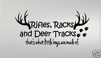 Guns Racks and Deer Tracks Thats What Little Boys Are Made Of Engraved Leather Picture Frame Light Brown