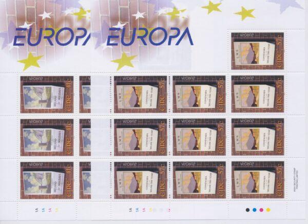 "2003 Europa Cept Irlanda N. 2 Minifogli. ""arte Manifesti"" Mnh** Nombreux Dans La VariéTé"