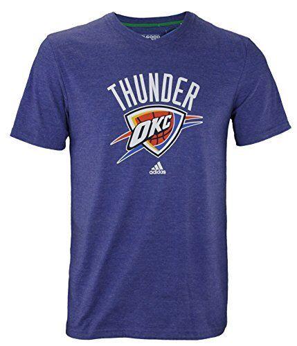 Camiseta de manga corta Adidas NBA para hombre de Oklahoma City Thunder Feel Good, azul