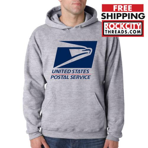USPS LOGO POSTAL SPORT GREY 2C HOODIE United States Service Hooded Sweatshirt