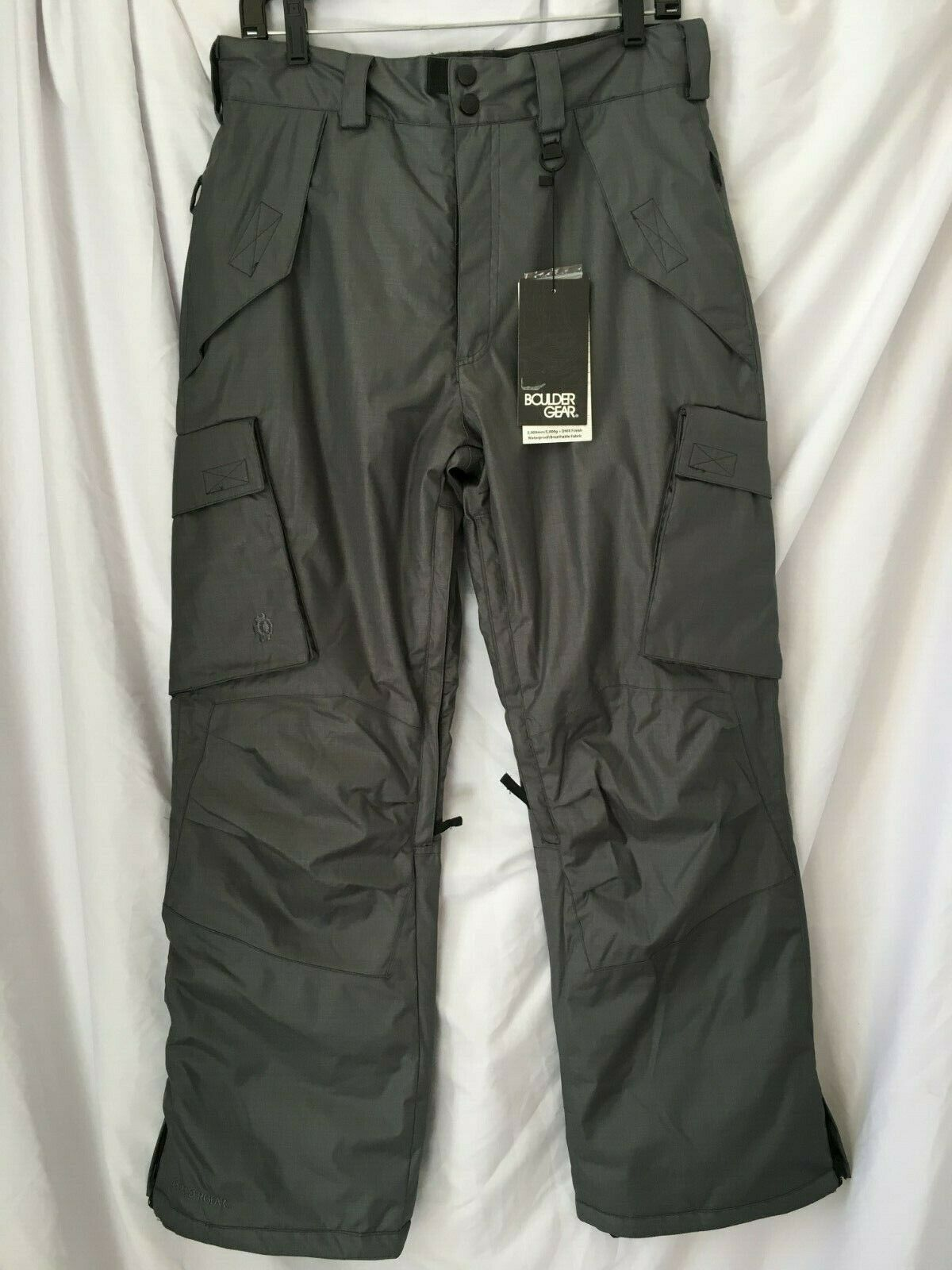 NEW Boulder Gear Men's Boulder Cargo Pant Ski Pants - Size S, color Steel