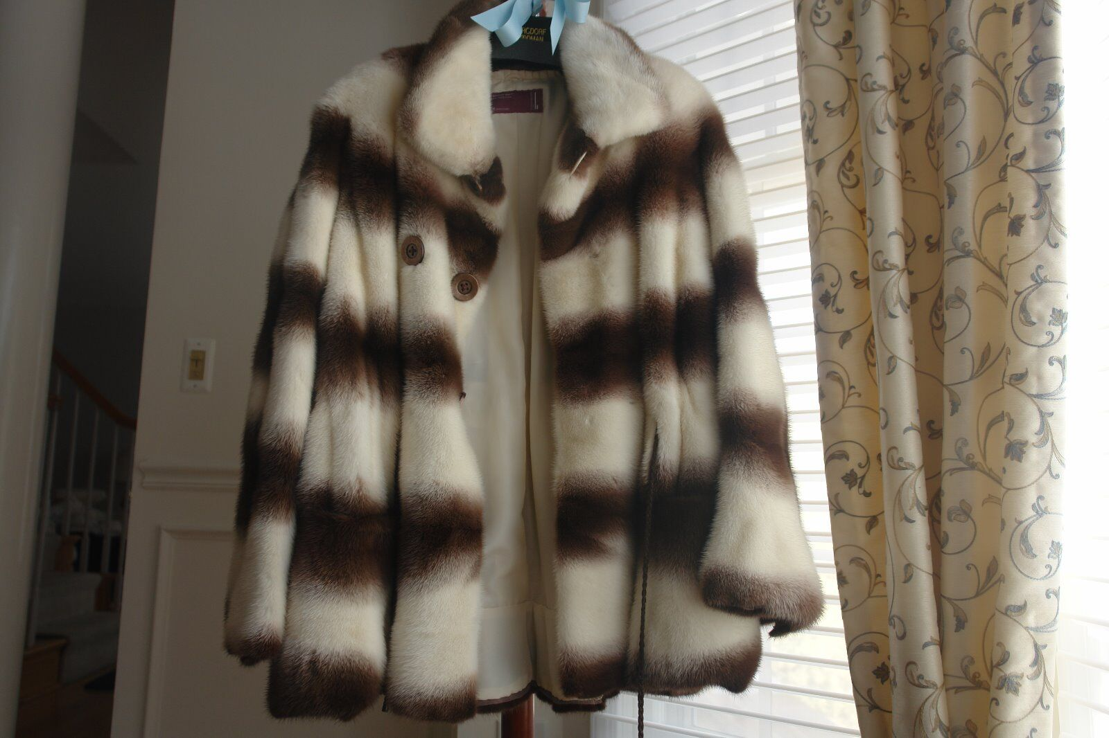 New Genuine Kopenhagen Pearl Denmark Mink Swing Coat Size M Full Pelts USA