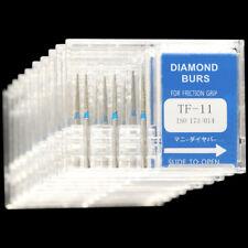 10 Boxes Tf 11 Mani Dia Burs Fg 16mm Dental High Speed Handpiece Diamond Bur