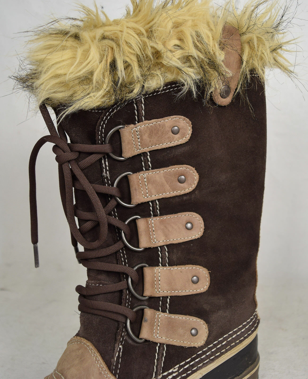 Sorel Joan of Arctic Tall Snow Stiefel Waterproof Braun 7 Braun Waterproof EUC Damenschuhe 98b2ad