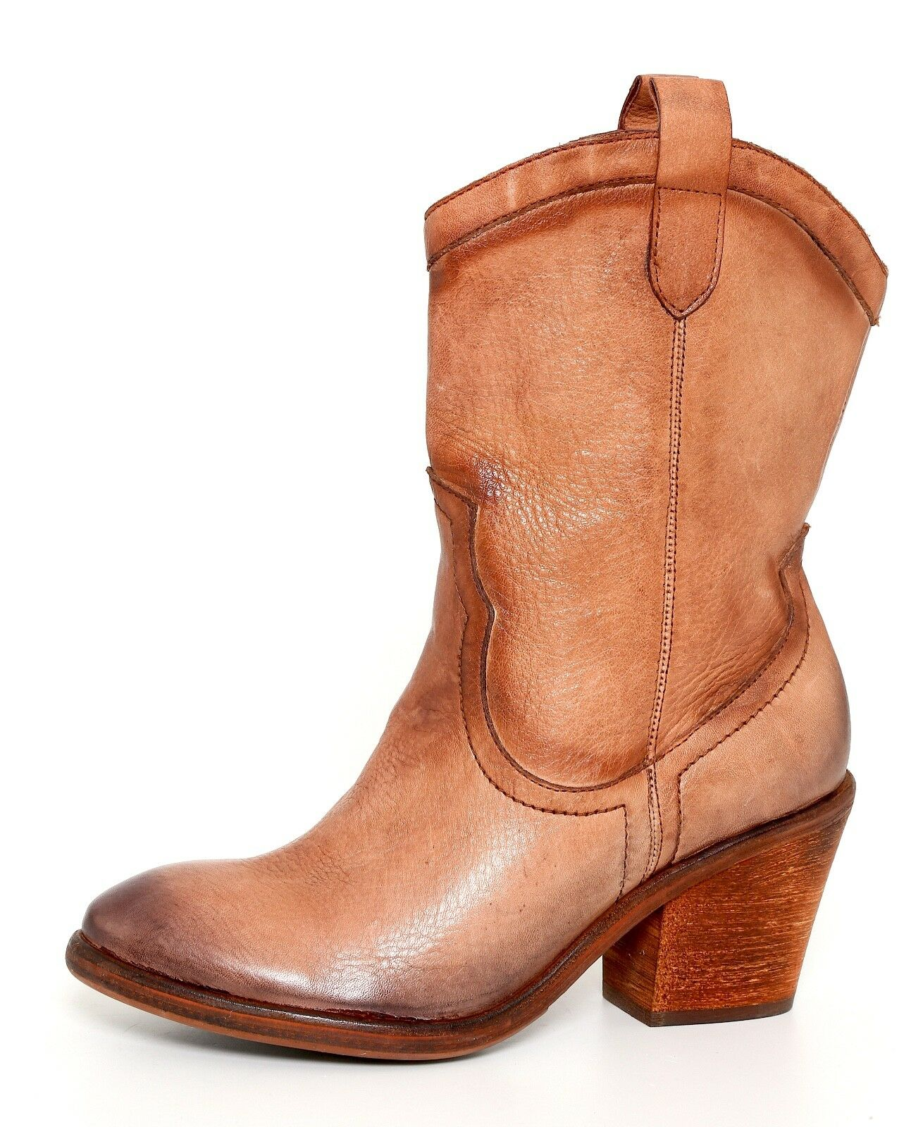 Sam Edelman Nile Whiskey Western Ankle Distressed Brown Boots 4890* Size 7.5 M