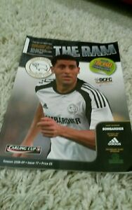 Derby county/Manchester United Carling cup Semi-final Programme  2009 Rare copy