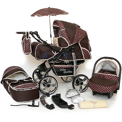 New Baby Pram - Child Stroller - Pushchair + Car Seat - 3in1 Buggy - NEW COLOURS